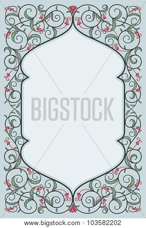 Decorative art frame in high quality details