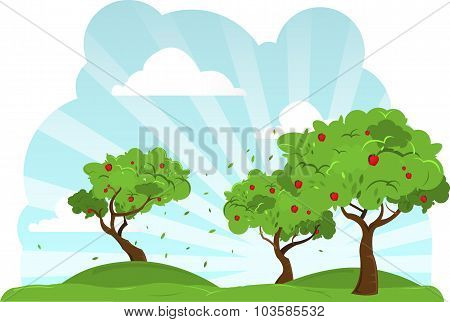 Apple Trees Blowing In The Wind