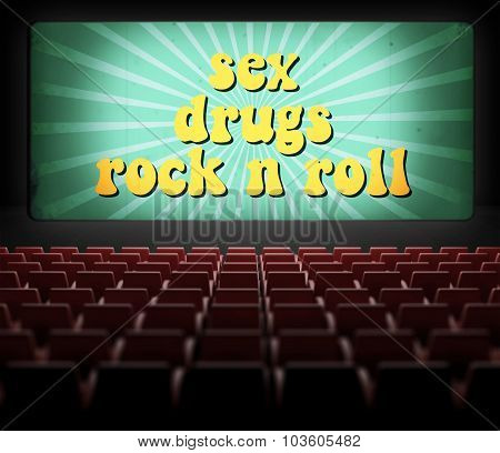 Sex, Drugs And Rock N Roll Movie Screen