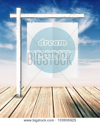Dream Land Concept Poster Hanging