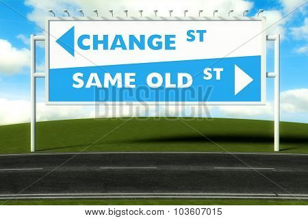 Conceptual Direction Signs Lead To Same Old Way Or New Path