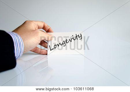 Longevity Text Concept