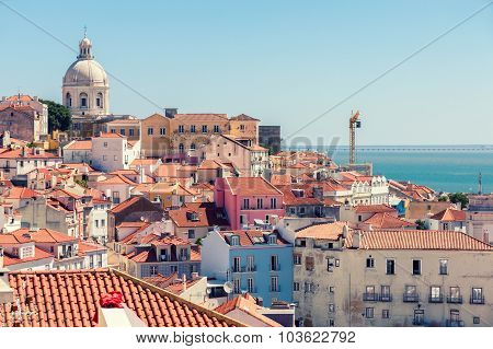 Lisbon Cityscape Of Alfama, Portugal