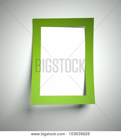 Blank Text Frame Cut Out In Paper, Copyspace