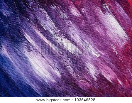 Texture Drawn With Acrylic Paint And Vigorous Brush Strokes