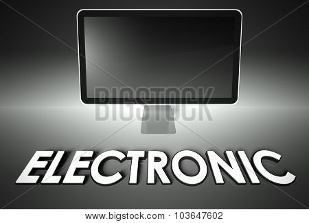 Computer Blank Screen With Word Electronic