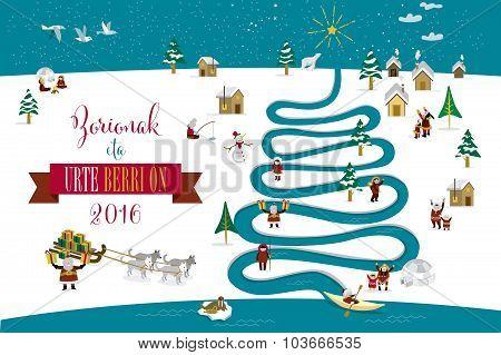 Christmas River Tree 2016 Basque