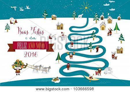 Christmas River Tree 2016 Portuguese