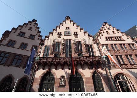 Historical Square In Frankfurt