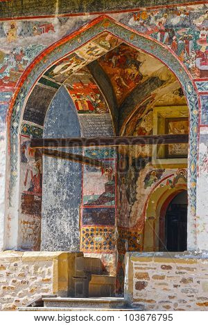 The Sucevita Monastery is a Romanian Orthodox monastery situated in the commune of Sucevita Suceava County Moldavia Romania poster