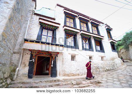 Monks in Drepung monastery in Lhasa, Tibet