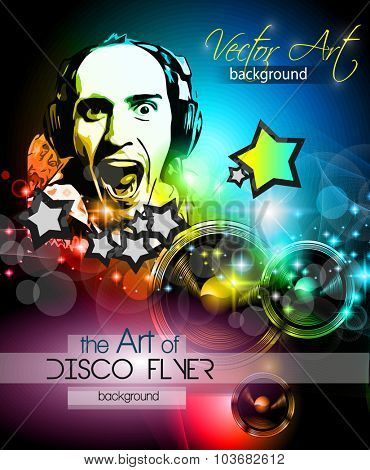 Disco Club Flyer Template for your Music Nights Event. Ideal for TEchno Music, Hip Hop and House Performance Posters and flyers for Discotheques and night clubs.