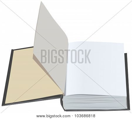 Open book with clean first sheets