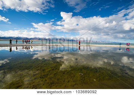 Namtso lake in Tibet, China.