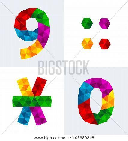 Polygonal Numbers 9, 0