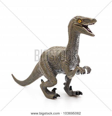 Deinonychus Toy On A White Background