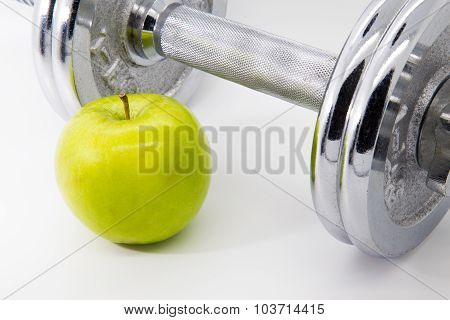 Apple And Weight Fitness Concept