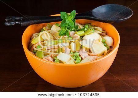 Bowl of healthy pasta