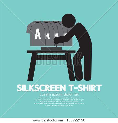 Worker Do Silkscreening Vector Illustration.