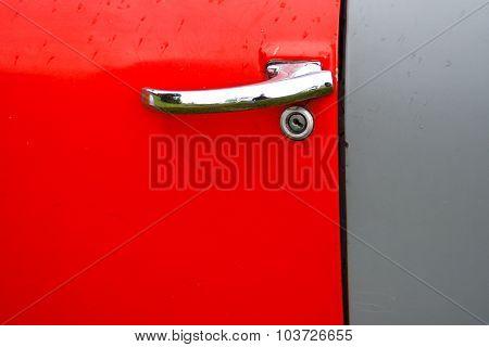 Abstract Old Vehicle Door Detail
