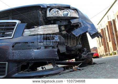 Close up of a car after accident