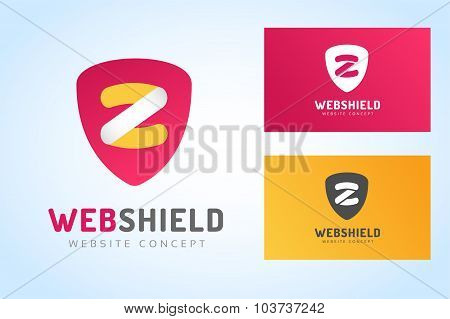 Abstract Z character vector logo monogram icon business card