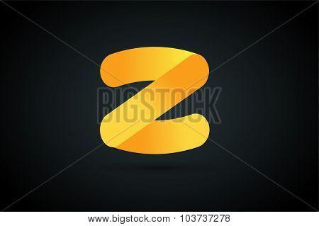 Abstract Z character vector logo icon monogram