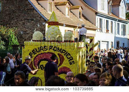 Editorial, 4 October 2015: Barr, France: Fete Des Vendanges