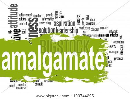 Amalgamate Word Cloud With Green Banner