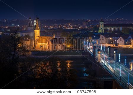 Panorama of the river and town of Kaunas.