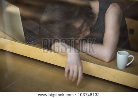 Young Woman Exhausted