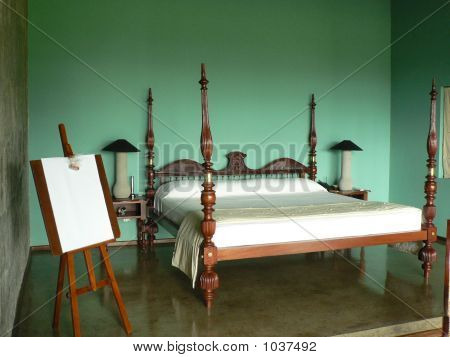 Comfortable Bed In A Room