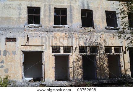KIEV, UKRAINE - OCT 4, 2015: Abandoned radio communication centre on October 4, 2015 Kiev, Ukraine