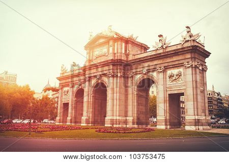 The Puerta De Alcala In Madrid