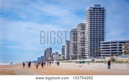 Buildings on the beach