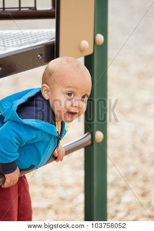 Baby Boy Climbing.