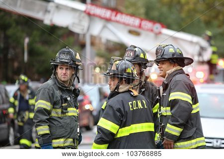 FDNY personnel in gear