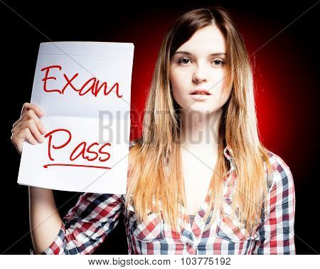 Passed Test Or Exam And Proud Girl