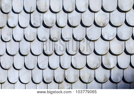 Old Roof Tile Structure In Grey