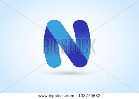 N letter vector. N logo icon template. N symbol silhouette. N isolated icon, N line style letter, N logotype, N vector, N modern symbol, N company name brand. N letter vector company brand name
