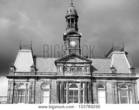 buxton building town hall grey stormy sky