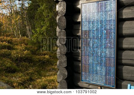 Solarpower. Simpel model often used in recreational places