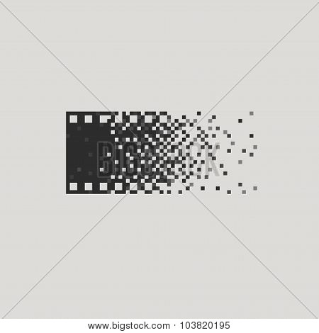 Photo logotype concept analogue digital versus film photography logo photographer cameraman.
