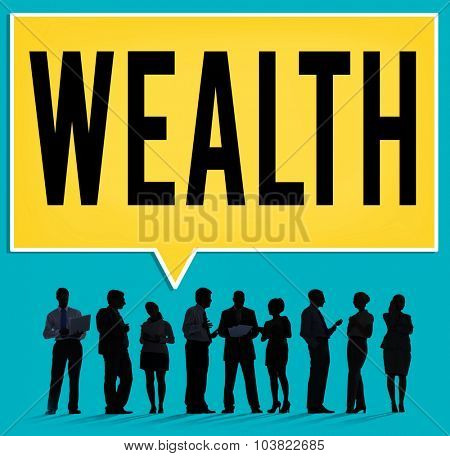 Wealth Financial Growth Income Economy Concept poster