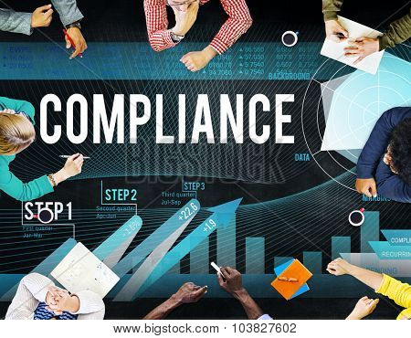 Compliance Rules Regulations Policies Codes Concept poster