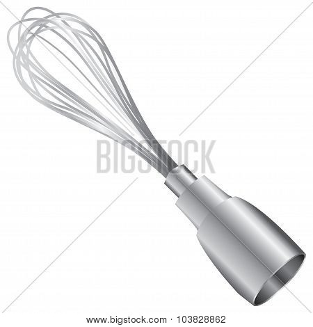 Whisk attachment for an electric blender. Vector illustration. poster