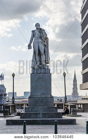 Brussels, Belgium - May 12, 2015: Augstin-daniel Belliard, Statue By Willem Geefs In Brussels