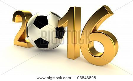 Year 2016 and soccer ball