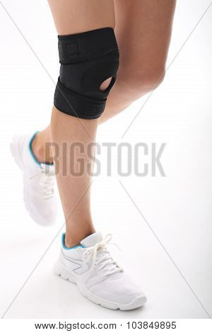 Knee stabilizer, helping with knee injuries , poster