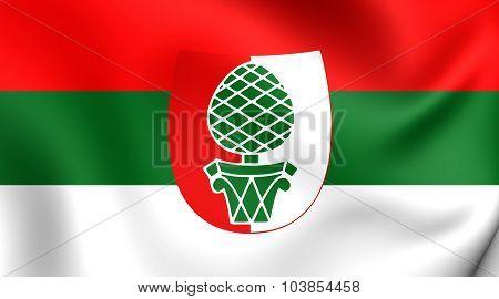 Flag Of Augsburg City (bavaria), Germany.